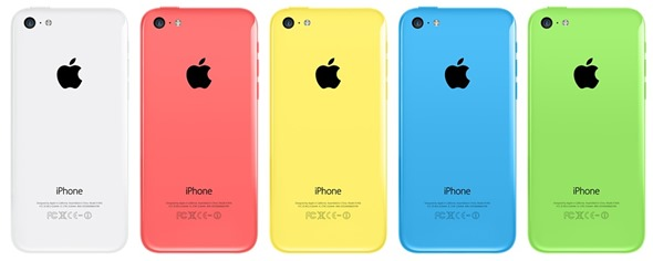 iPhone 5C Colours Back