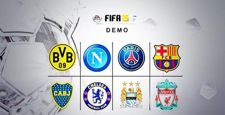 FIFA 15 Demo Teams