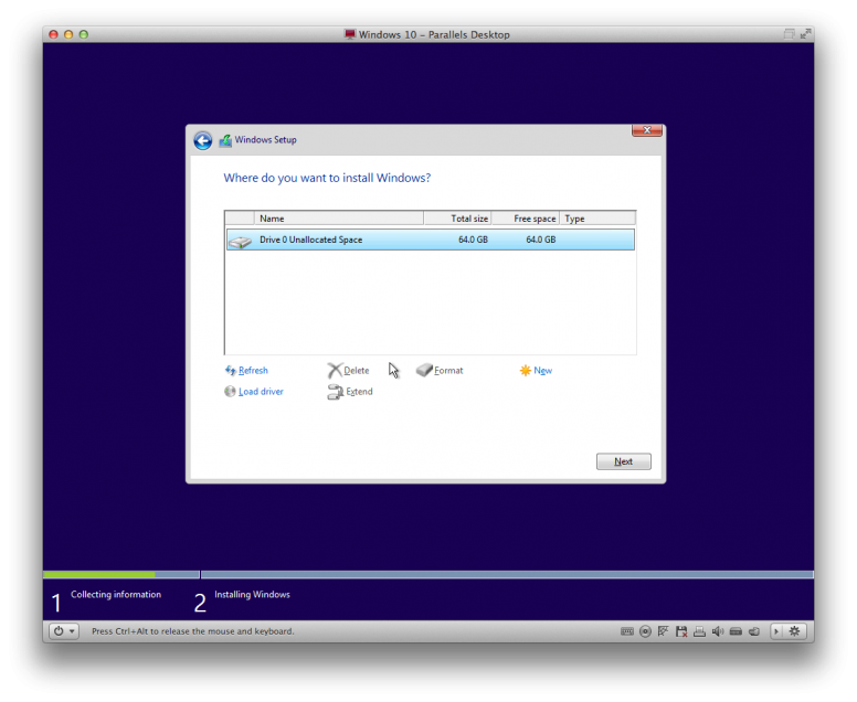 How To Install Windows 10 TP Parallels 9 Step 8