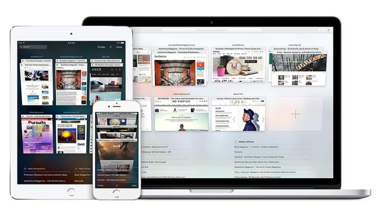 Safari on iPhone iPad Mac