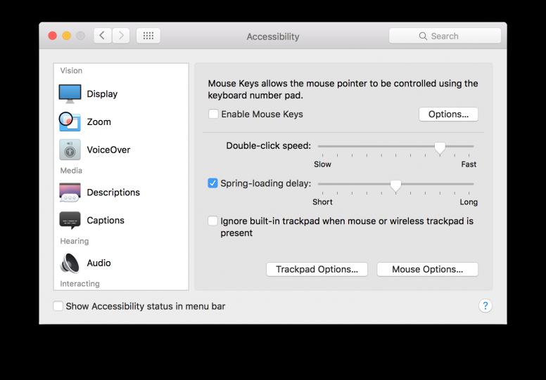OS X El Capitan Accesibility