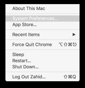 OS X El Capitan System Preferences Menu